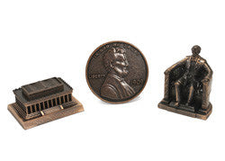 Lincoln Pencil Sharpener & Coin Set