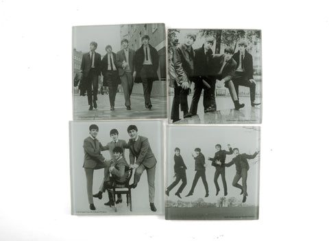 Beatles Classic Glass Coasters Set of 4