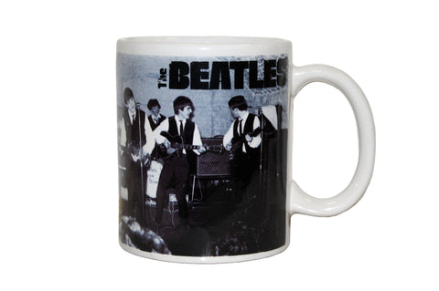 The Beatles Black & White Performing 12 oz Mug