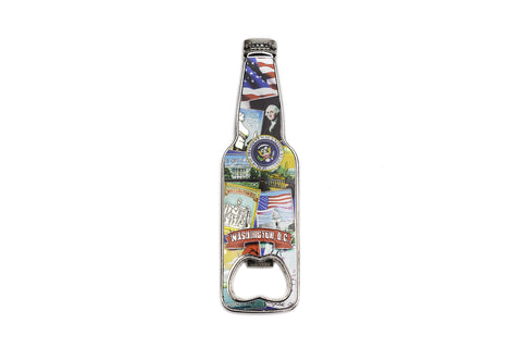 Washington DC Retro Collage Magnet Bottle Shaped Opener