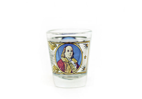 Ben Franklin Shot Glass