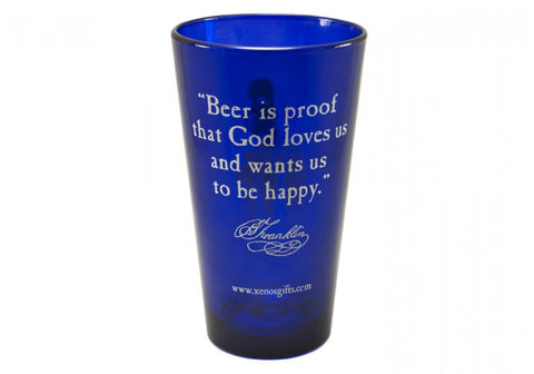 "Ben Franklin ""Beer is proof..."" Pint Glass"