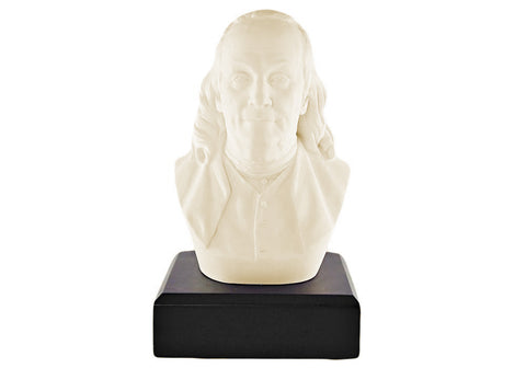 Benjamin Franklin 6'' Polystone Ivory White Bust