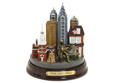 Ben Franklin and Philadelphia 3D Skyscrapers (Colored )