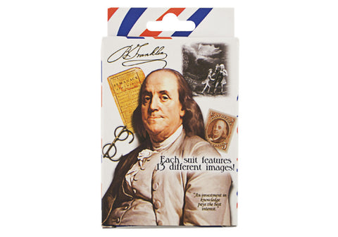 Benjamin Franklin 14 Images Playing Cards