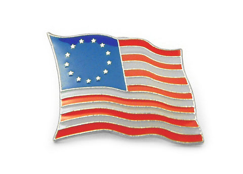 13 Star US Flag Lapel Pin (B)
