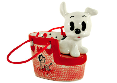 Betty Boop Pudgy Dog Handbag Salt & Pepper Set
