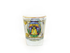 Birthplace of Liberty Gold Rim Shot Glass