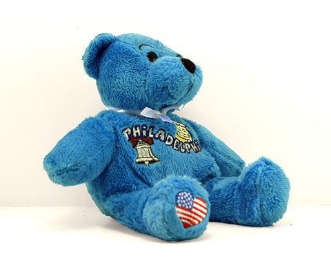 Philadelphia Plush Teddy Bear in Blue