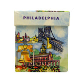 Philadelphia Watercolor Mug with Decorative Box and Peanut Chews