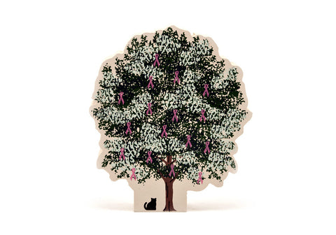 Breast Cancer Awareness Tree (Cat's Meow Village)