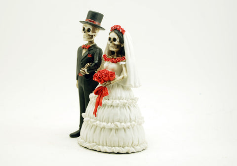 Bride and Groom Love Skeleton Figurine