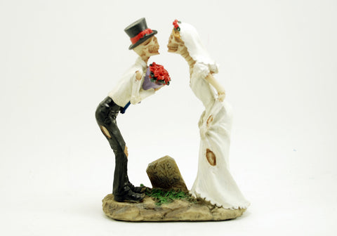 Bride and Groom Kiss Love Never Dies Figurine
