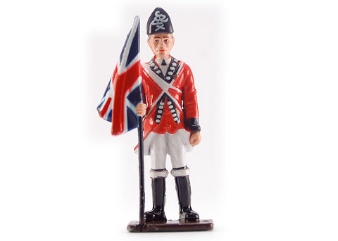 British Flag Bearer Metal Soldier