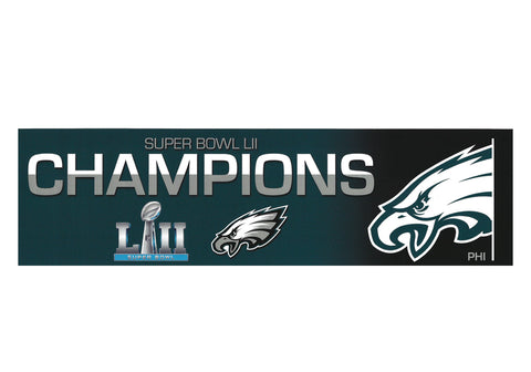 Philadelphia Eagles Super Bowl LII Champs Bumper Sticker