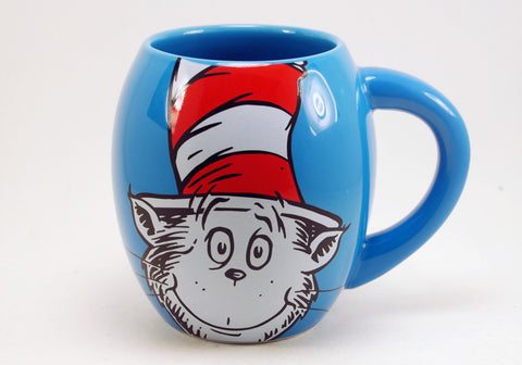 Dr. Seuss Cat In the Hat 18 oz Oval Mug