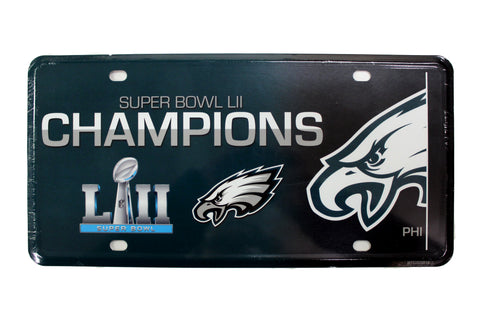 Philadelphia Eagles Super Bowl LII Champs License Plate