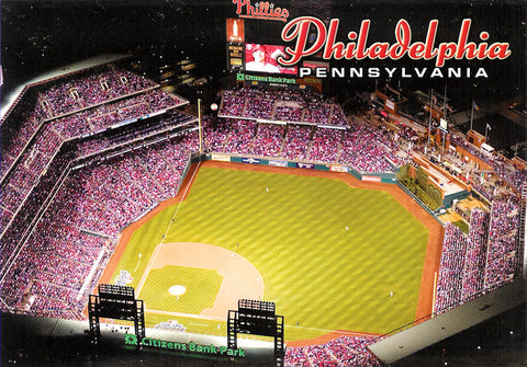 Aerial View of Citizens Bank Park Postcard