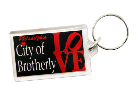 City of Brotherly Love lucite Keychain
