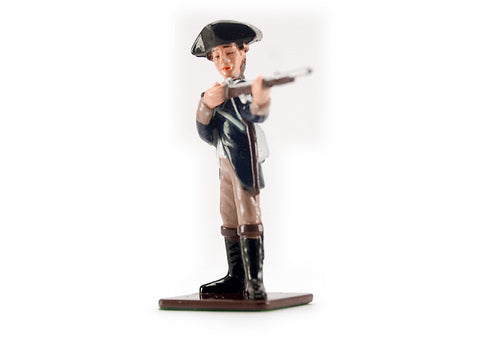 Colonial Infantryman Firing Metal Soldier