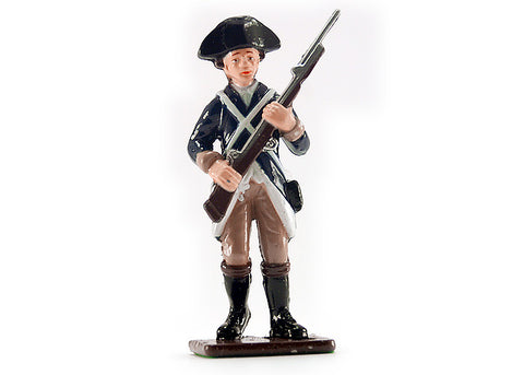Colonial Infantryman Running Metal Soldier
