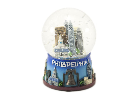 Philadelphia Skyline Snow Globe 65mm