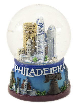 Philadelphia's Skyline Musical Snow Globe