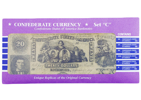 Confederate Currency Set C