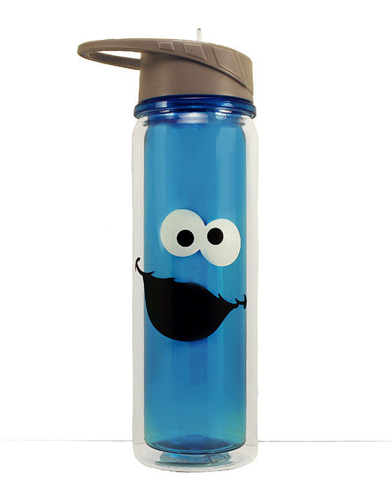 Container Stickers Xenos.Sesame Street Cookie Monster 18 Oz Tritan Water Bottle