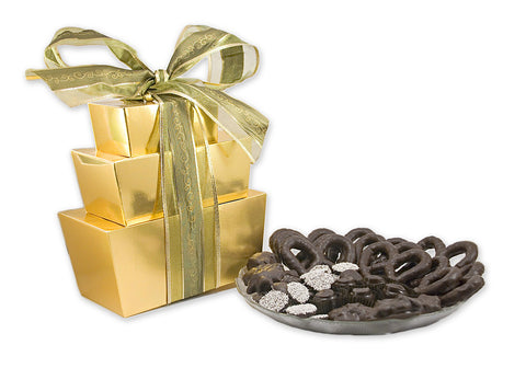 3 Tier Tower Gourmet Dark Chocolate Package