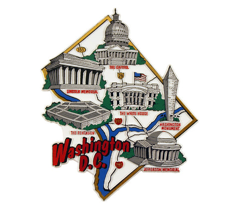 Washington DC Landmarks Magnet