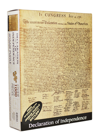 The Declaration of Independence Jigsaw Puzzle Game