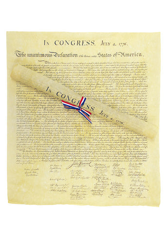 Declaration of Independence ( Tied with Ribbon)