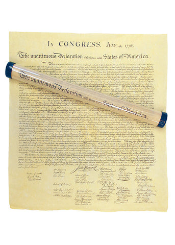 Declaration of Independence ( Rolled in Hard Plastic Tube)
