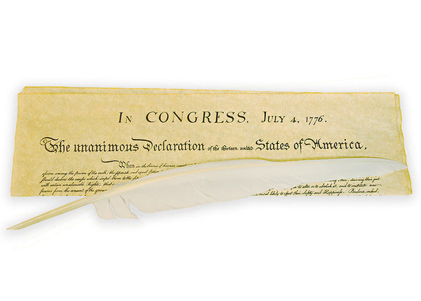 Declaration of Independence with Quill Pen