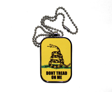 Don't Tread On Me Dog Tag Necklace