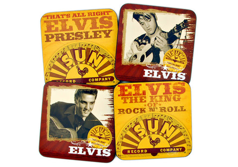 Elvis Presley Sun Records Set of 4 Coasters