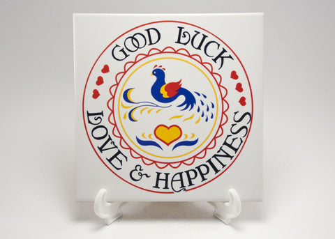 Good Luck, Love & Happiness CeramicTile