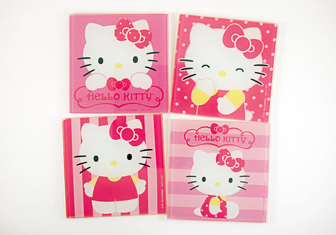 Hello Kitty Set of 4 Glass Coasters