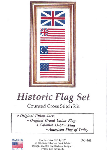 HIstorical Flags Cross Stitch Kit