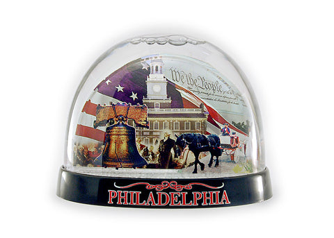 Philadelphia  Scenery Double-Sided Snow Globe