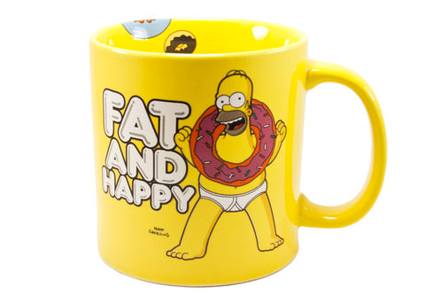 The Simpsons 20 oz Mug Fat and Happy