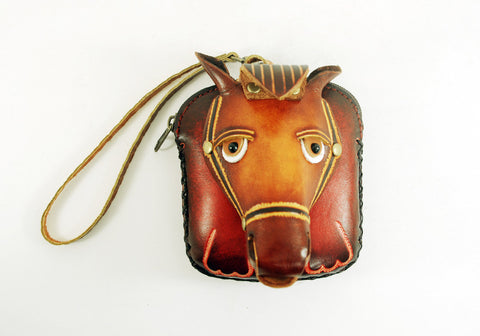 Leather Horse Pouch Wristlet