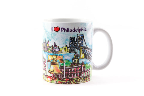 Philadelphia Watercolor 11 oz Mug