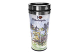 I Love Philadelphia Illustrated Travel Mug