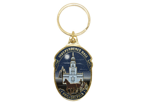Independence Hall Sunset Keychain