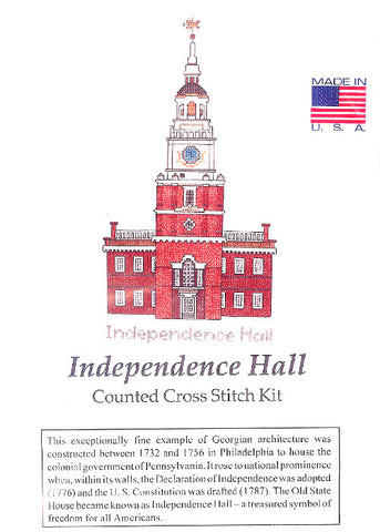 Independence Hall Cross Stitch Kit
