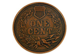 Indian Head 1877 PennyJumbo Coin 3""
