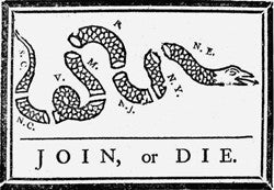 """Join or Die"" 4"" x 6"" Flag"