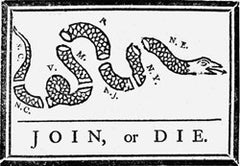 "Join or Die 4"" x 6"" Flag"